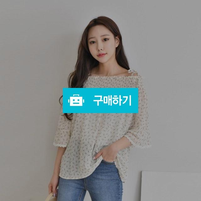 어깨트임 소매 레이스 끈 오프숄더 블라우스 / 겟잇미 / 디비디비 / 구매하기 / 특가할인