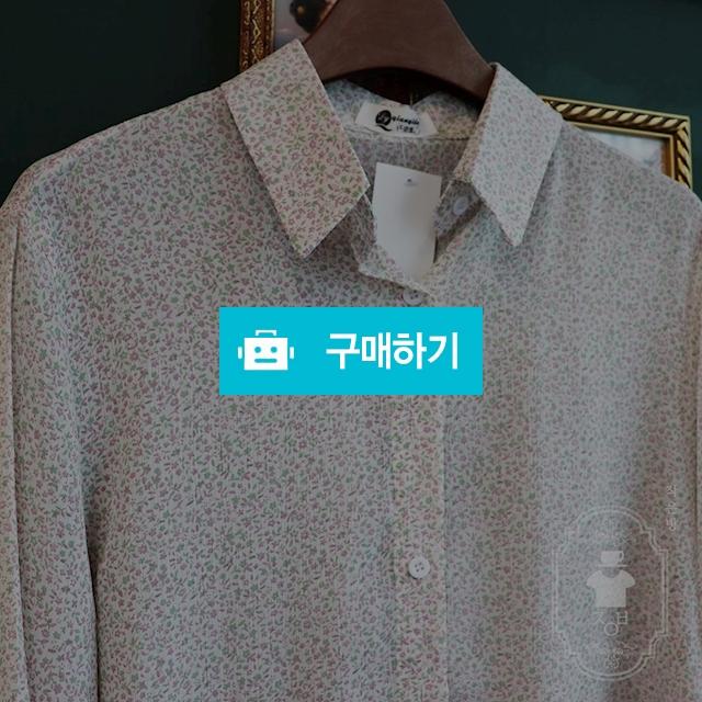 잔꽃무늬 셔츠 블라우스 / 작은방 / 디비디비 / 구매하기 / 특가할인