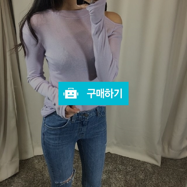 오프숄더 슬림 무지 티셔츠 / 워니룸 / 디비디비 / 구매하기 / 특가할인