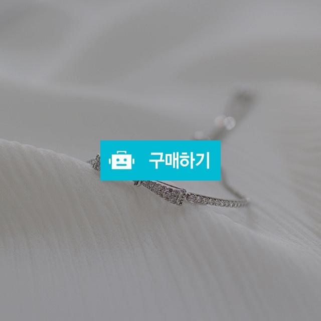 925실버 큐빅 리본 팔찌 / 손수메이크 / 디비디비 / 구매하기 / 특가할인