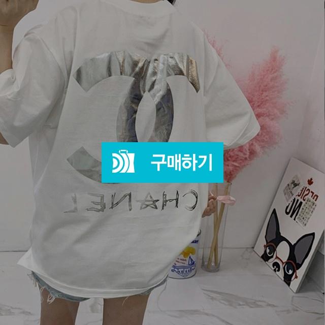 남녀공용 샤* 로고 호일 티셔츠 / 데미 / 디비디비 / 구매하기 / 특가할인