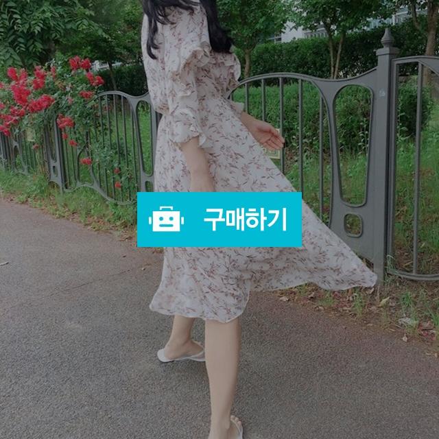 쉬폰 플라워 러플 소매 프릴 원피스 / 꼬르니숑님의 스토어 / 디비디비 / 구매하기 / 특가할인