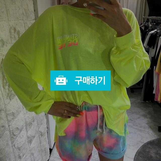 오버핏 네온 레터링 여름 티셔츠 / 니키가님의 스토어 / 디비디비 / 구매하기 / 특가할인