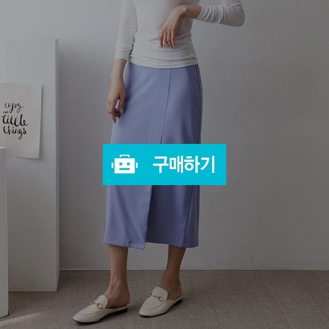 여성 H라인 앞 트임 밴딩 핑크 롱 스커트 / 옷자락 / 디비디비 / 구매하기 / 특가할인