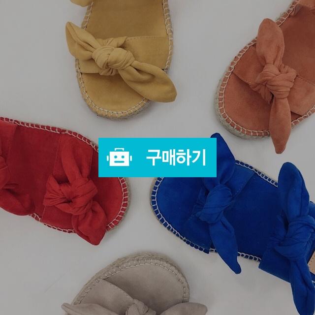여름 리본 매듭 왕리본 노마딕 상큼 에스파듀 슬리퍼 / 온도25 / 디비디비 / 구매하기 / 특가할인