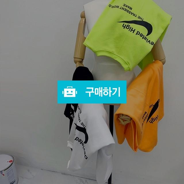 남녀공용 디자인 로고 형광 티셔츠 / 데미 / 디비디비 / 구매하기 / 특가할인