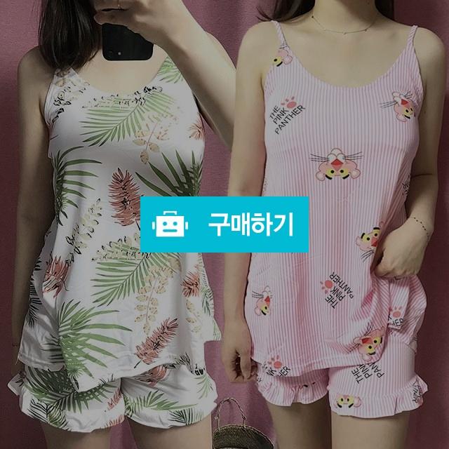 여성 여름 나시 민소매 면 잠옷 홈웨어 파자마 4종 / 프리판다님의 스토어 / 디비디비 / 구매하기 / 특가할인