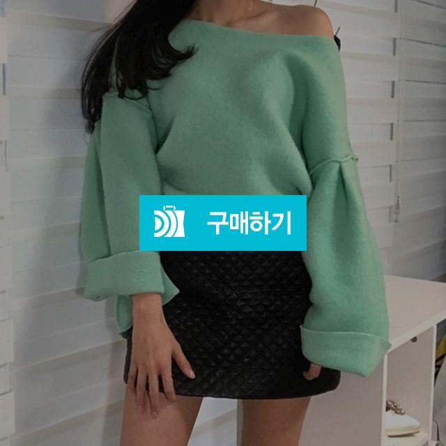 루즈핏 벌룬 트임 오프숄더 니트 / SHINs SENSE / 디비디비 / 구매하기 / 특가할인