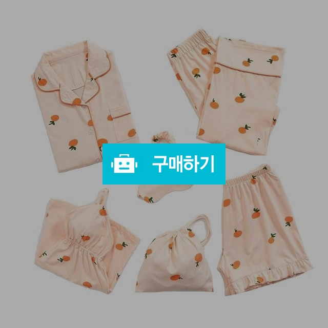 여성 오렌지 면 잠옷 파자마세트 / 프리판다님의 스토어 / 디비디비 / 구매하기 / 특가할인