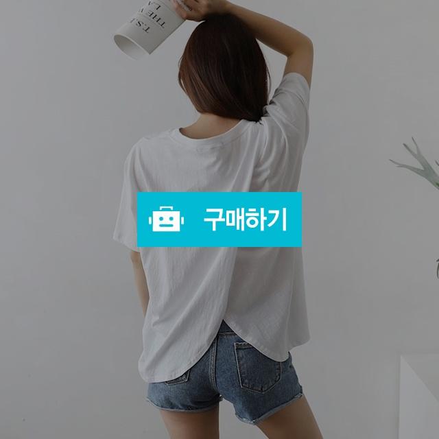 뒤트임 라운드 루즈핏 면티셔츠 / 나나윙님의 스토어 / 디비디비 / 구매하기 / 특가할인