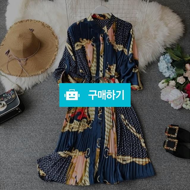 봄 숙녀 도시 쉬폰 느슨한 인쇄 Pleated 드레스 / Oktofas님의 스토어 / 디비디비 / 구매하기 / 특가할인