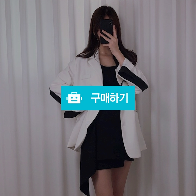 배색 레터링 오버핏 자켓 / 유니리즈 / 디비디비 / 구매하기 / 특가할인