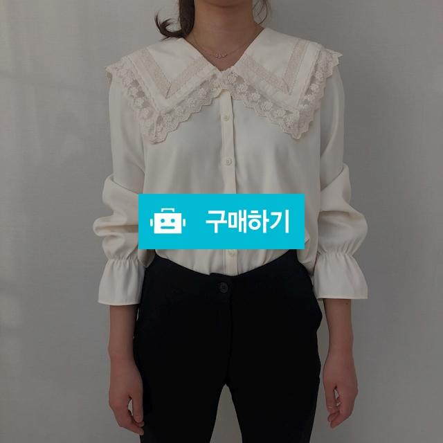 펀칭 레이스 카라 셔츠 블라우스 / 콩고님의 스토어 / 디비디비 / 구매하기 / 특가할인