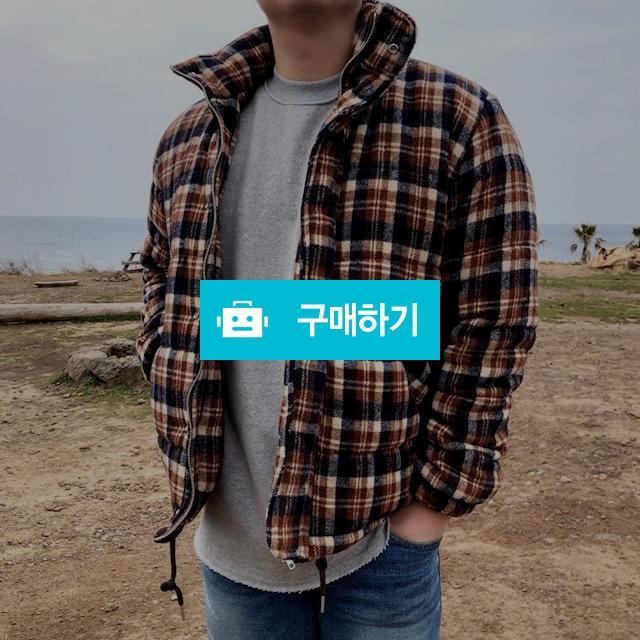 [며니룸] 남자 라쿤 울 체크 안감 누빔 패딩 점퍼 자켓 / 유픽 / 디비디비 / 구매하기 / 특가할인