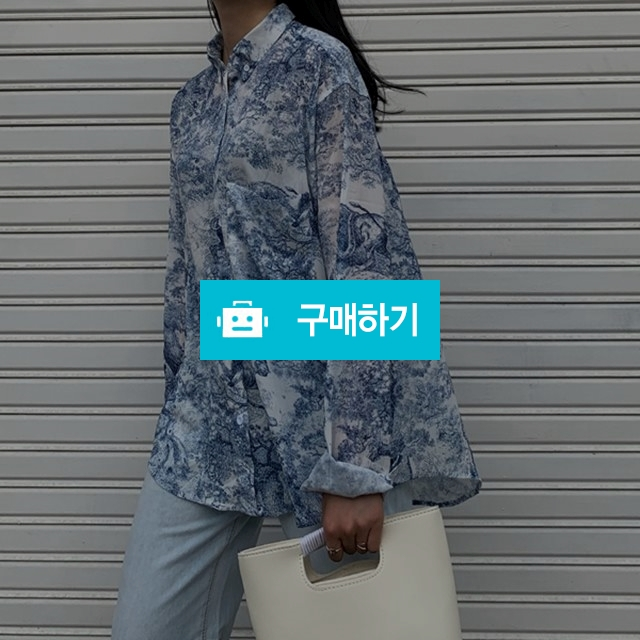 카라 루즈핏 패턴 블루 셔츠 / blackpacker / 디비디비 / 구매하기 / 특가할인