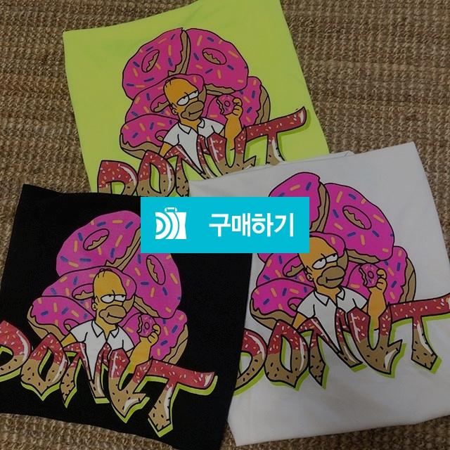 남녀공용) 심슨도넛 오버핏 반팔 티셔츠 / 나야또리 / 디비디비 / 구매하기 / 특가할인