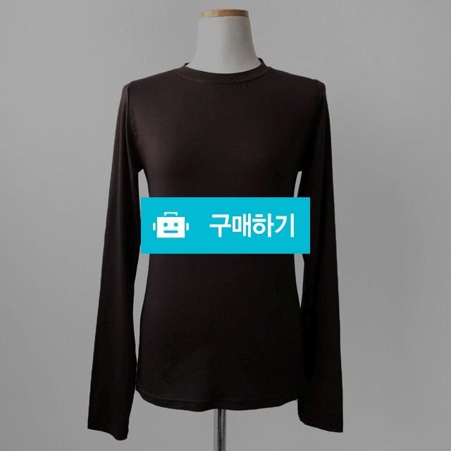 심플 베이직 기본 슬림핏 라운드 긴팔 무지 티셔츠 / 리버스튜디오 / 디비디비 / 구매하기 / 특가할인
