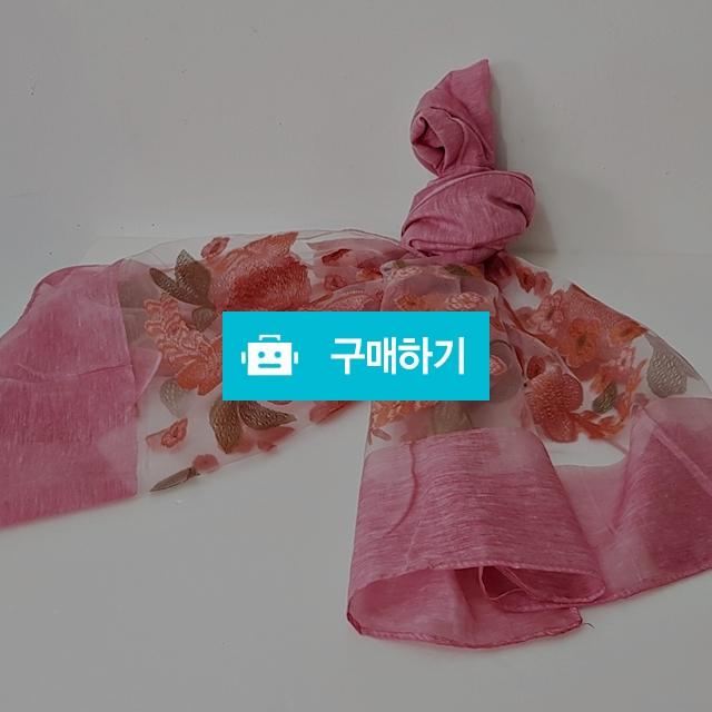 꽃자수 코튼폴리 스카프 인디핑크 / 인사동어사프님의 스토어 / 디비디비 / 구매하기 / 특가할인