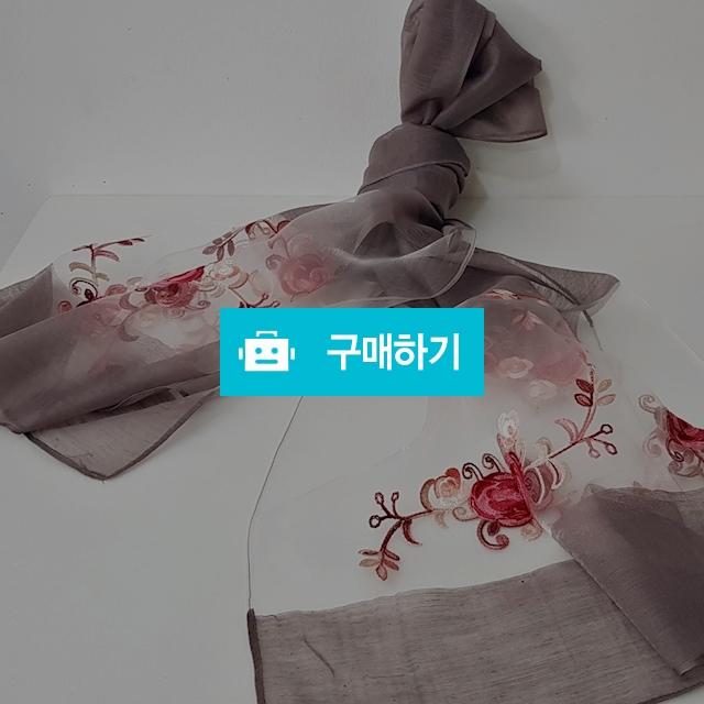 꽃자수 코튼폴리 스카프 팥죽색 / 인사동어사프님의 스토어 / 디비디비 / 구매하기 / 특가할인