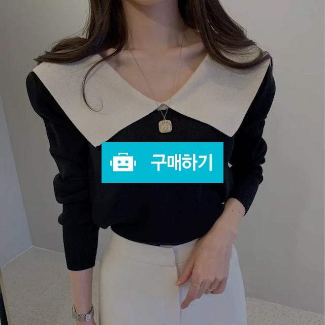 💕배색 빅 카라 니트 💕 / 아낌없이줄게님의 스토어 / 디비디비 / 구매하기 / 특가할인