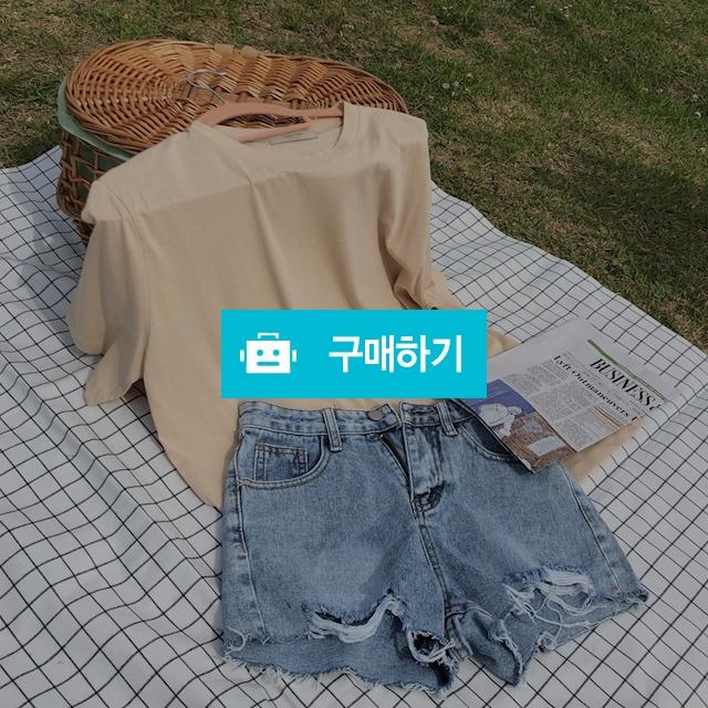 해짐 연청 데님 하이 여름 찢청 핫팬츠 / 라벨르비 / 디비디비 / 구매하기 / 특가할인